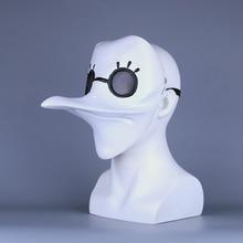 plague doctor mask Beak Mask Long Nose Cosplay Fancy Gothic Retro Rock Leather Halloween beak white