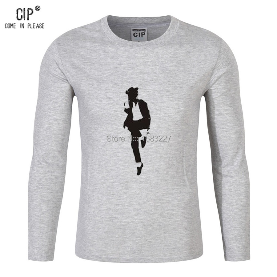 Cip brand clothes michael jackson tee long sleeve pure cotton children shirts boys mj dancing t shirts boys t shirt kids cl129-2