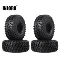 "INJORA 4PCS 123*45MM 1.9"" Rubber Tyre Wheel Tires for 1:10 RC Rock Crawler Axial SCX10 SCX10 II 90046 AXI03007 Traxxas TRX-4 1"