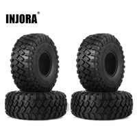"INJORA 4PCS 123*45MM 1.9"" Rubber Tyre Wheel Tires for 1:10 RC Rock Crawler Axial SCX10 SCX10 II 90046 AX103007 Traxxas TRX-4"