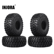 "INJORA 4 stks 123*45mm 1.9 ""Rubber Tyre Wheel Banden voor 1:10 RC Rock Crawler Axiale SCX10 SCX10 II 90046 90047 Traxxas TRX-4 TRX4(China)"