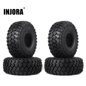 "Image 1 - INJORA 4PCS 123*45MM 1.9"" Rubber Tyre Wheel Tires for 1:10 RC Rock Crawler Axial SCX10 SCX10 II 90046 AXI03007 Traxxas TRX 4"