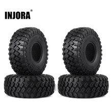 """INJORA neumáticos de rueda neumático de goma, 4 Uds., 123x45MM, 1,9 """", para 1:10 RC Rock Crawler Axial SCX10 SCX10 II 90046 AXI03007 Traxxas TRX 4"""