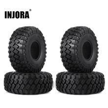 """Pneu de borracha para roda de pneu 1:10 rc rock crawler, axial scx10, 4 peças, 123*45mm 1.9 """"scx10 ii 90046 axi03007 traxxas TRX 4"""