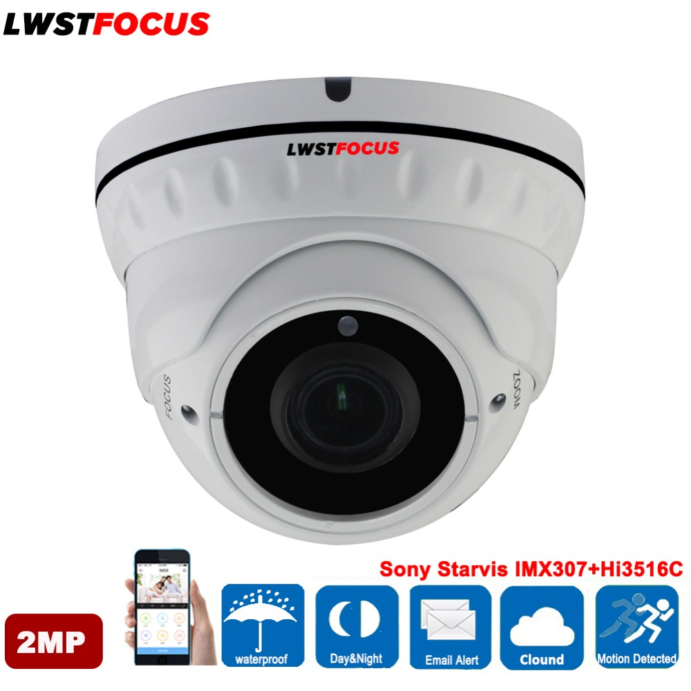 Sony Starvis IMX307 + Hi3516C 1080 p Réel WDR Standard POE 2MP IP Caméra Extérieure Étanche Dôme Caméra de Surveillance IP ONVIF