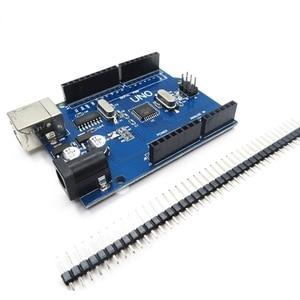 Image 2 - 5pcs/lot UNO R3 Development Board For Arduino (Compatible) UNO MEGA328P CH340 NO USB CABLE