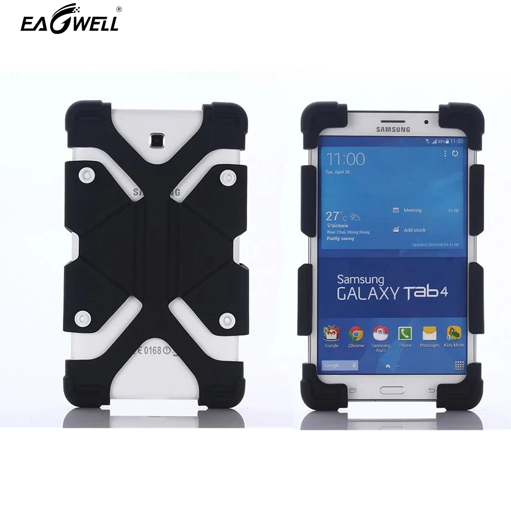 Silicone Universal Tablet Holster Cases Fundas For iPad for Samsung 7'' 8'' Tablet PC Case Silicon Coque Cover Holder universal nylon cell phone holster blue black size l