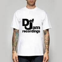 New Summer Men Summer T Shirts Def Jam Recordings Retro Music T Shirts Casual T Shirts