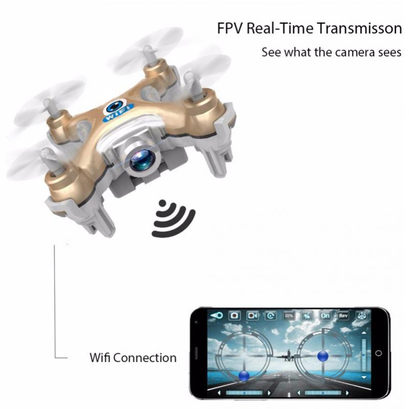 Cheerson CX-10W/CX-10WD-TX Drone 4CH RC Quadcopter Nano WIFI Drone Camera 720P FPV Mini Drone Remote Control Drone