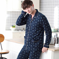 2016 de inverno de espessura coral fleece conjuntos de pijama dos homens de sono tops & bottoms masculino flanela sleepwear quente térmica de roupas em casa