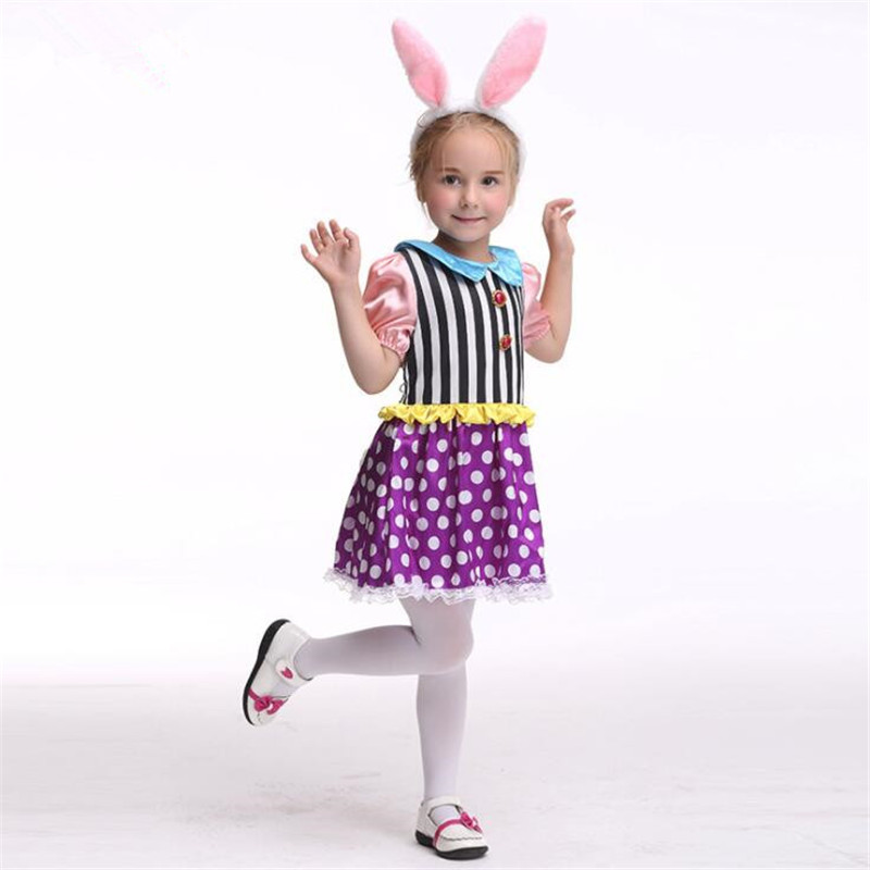 Children Movie Magic Rabbit Girls Cosplay Costumes Sets Holiday Dance Party Performance Wear Halloween