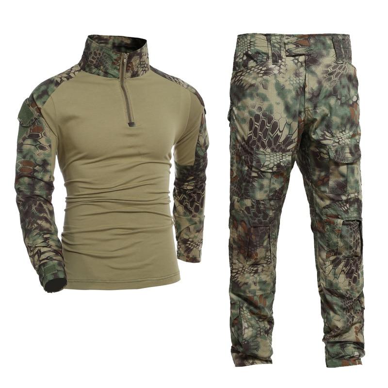 Gen2 armée uniforme BDU Kryptek Mandrake Camouflage chasse vêtements tactique Combat chemise pantalon hommes Airsoft Sniper militaire costume