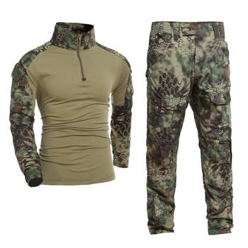Gen2 uniforme del ejército BDU Kryptek Mandrake camuflaje caza ropa de  combate táctico pantalones de camisa e5a12d87e92