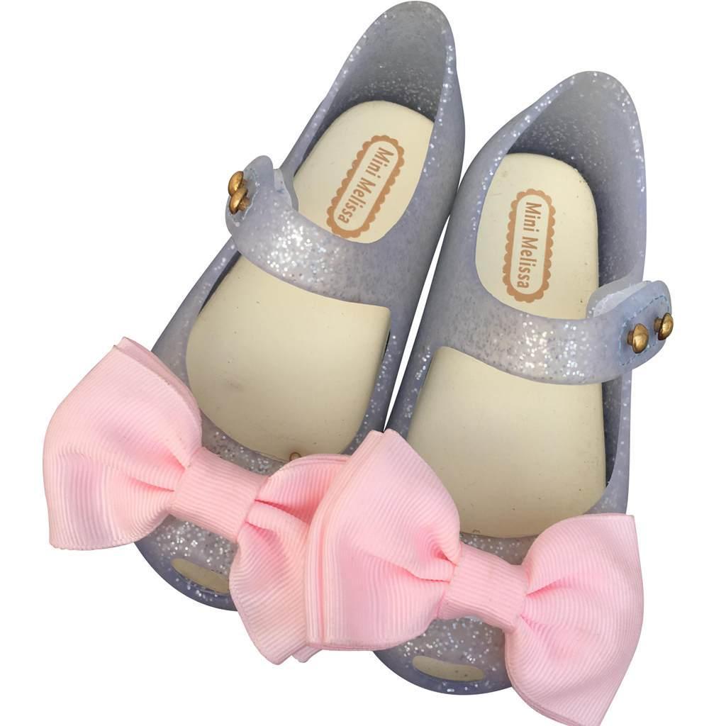 Mini Melissa 2017 summer new Cloth Bow Girl Sandals Jelly Shoes Soft Comfort Kids Sandal Winter Shoe Toddler Princess sandals