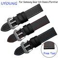 Углеродного волокна шаблон ремешок для часов 22 мм для Samsung Gear S2 Classic/Forntier смарт браслеты водонепроницаемый браслет