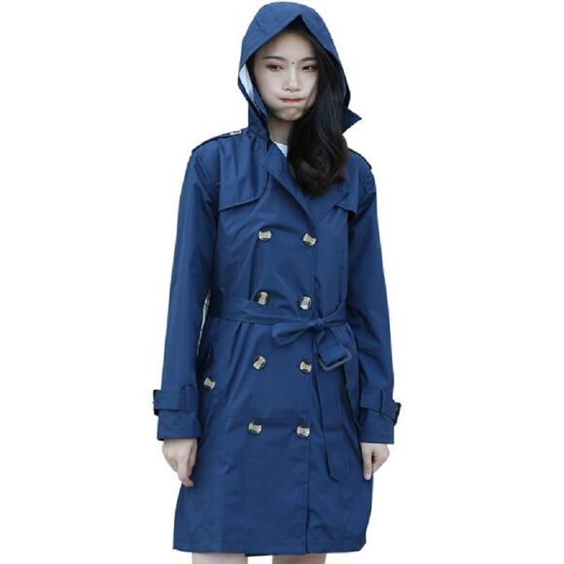 WINSTBROK Female Adult Petty Coat Waterproof Rain Coat Outdoor Travel Raincoat Ponchos Jackets Women Rainwear Poncho Impermeable