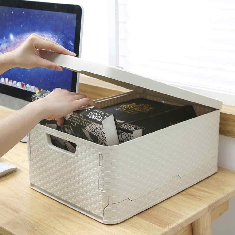 Caixa de armazenamento mala do carro caixa de armazenamento de dobramento carro de escritório em casa ao ar livre multi-função caso organizador caixa de armazenamento rattan airpods @ 12