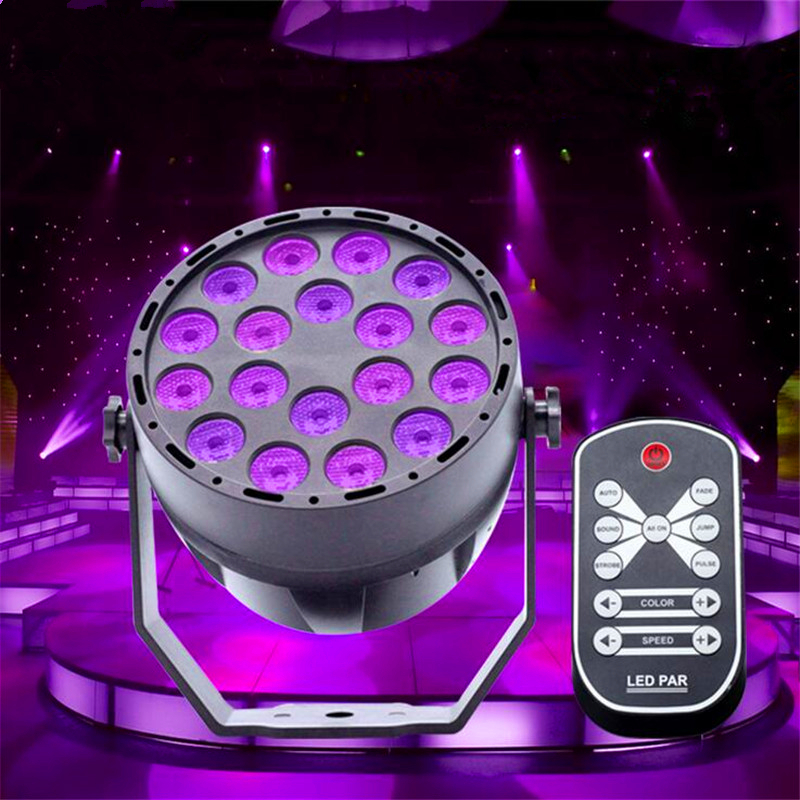 UV 18 LED Stage Lights DMX512 Master-slave Violet Led Laser Projection Lighting Party Club Disco Par Light Stage Lighting Effect