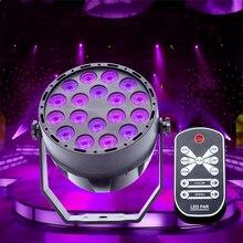 UV 18 LED Stage Lights DMX512 Master-slave Violet Led Laser Projection Lighting Party Club Disco Par Light Stage Lighting Effect цена в Москве и Питере