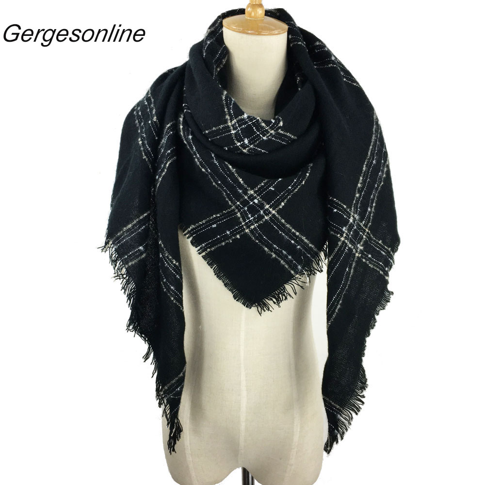 Apparel Accessories Autumn 2019 New Arrival Scarf Women Dress Scarves Winter Warm Cotton Wraps Solid Colors Apparel Accessories Clients First