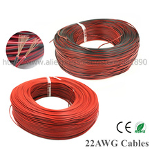 600m 2pin LED wire 22AWG Red black Cable extension wire For LED 50503528 Strip PVC insulated wire Electrical copper cable by DHL