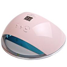 מנורה ציפורניים 48W SUN6 UV מנורת LED נייד באיכות גבוהה תוף הציפורן עם חיישן ו- LCD ריפוי UV נייל ג'ל נייל כלים uf המנורה