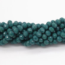 BEAUCHAMP 4*3mm Crystal Beads Rondelle Faceted Mix Color