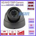 720 P AHD 960 H HD cmos Sensor de segurança cctv dome câmera de vigilância lente de 3.6 mm, Ahd câmera 1.0mp, 24led, Osd, Ir cut