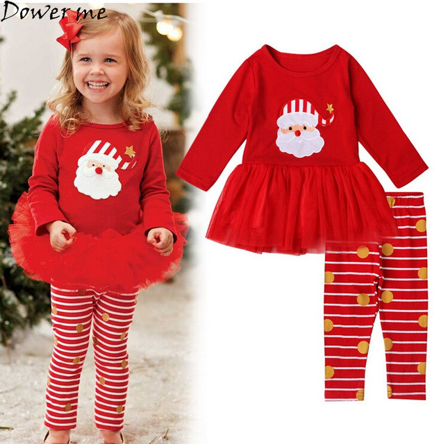 Aliexpress.com : Buy Toddler Girls Christmas Outfits Tutu Shirt+ ...