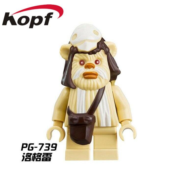 Single-Sale-Star-Wars-Ewok-Village-Tan-Tokkat-Wicket-Logray-10236-Battle-of-Endor-8038-Building-Blocks-Toys-for-children-PG8067-2