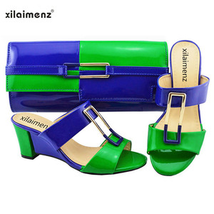 Image 5 - New Shop 40% Discount 2018 New Arrival Ladies Nigerian Shoes and Matching Bags Hot Sales Women Fashion Wedges Mix Color