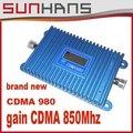 ЖК-Дисплей! CDMA 850 МГц Мобильный Телефон CDMA 980 Усилитель Сигнала, сотовый Телефон CDMA Сигнал Повторителя Усилитель + Адаптер Питания