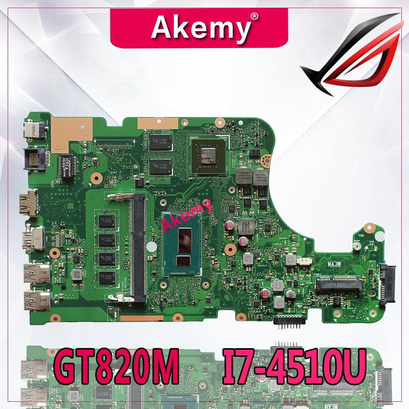 Akemy X555LD Laptop motherboard for ASUS X555LD X555LP X555LA X555L X555 Test onboard mainboard 4G-RAM I7-4510U GT820M