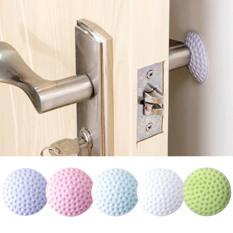 3PCS Wall Thickening Mute Door Stick Golf Styling Rubber Fender Handle Door Lock Protective Pad Protection Home Wall Stickers