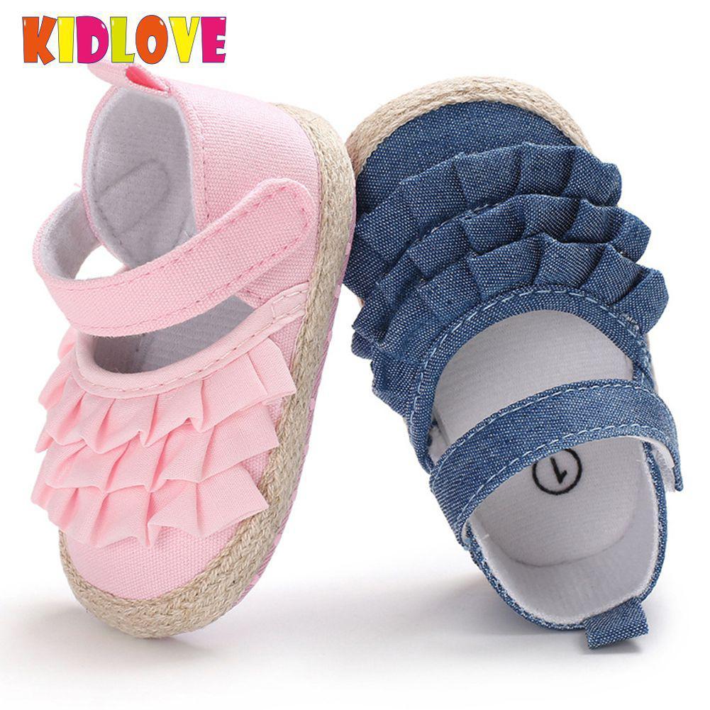 Kidlove Baby Shoes Prewalker Infant Bowknot Summer Shallow 11-13cm-Length SAN0 Corrugated-Edge