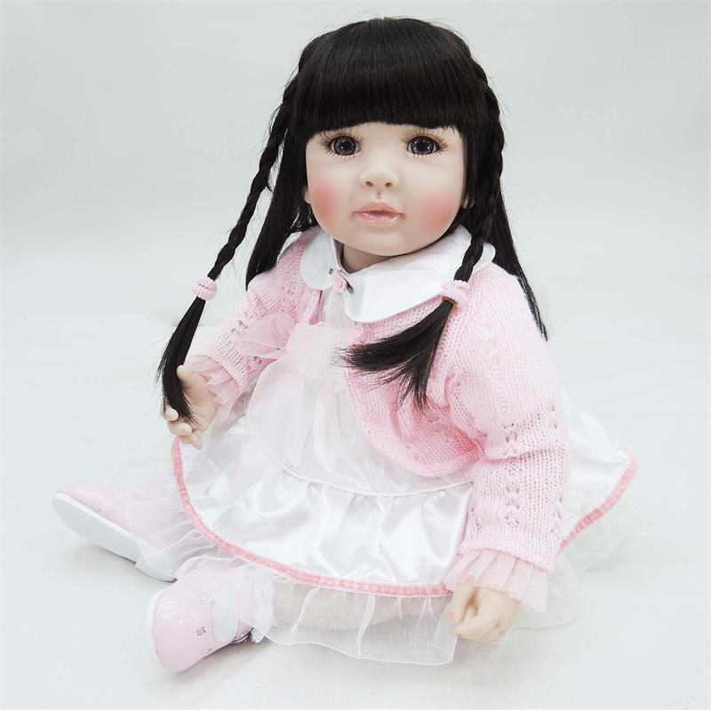 50cm Silicone Reborn Baby Doll Toys Lifelike 20inch Vinyl Princess Toddler Girl Babies Doll Child Birthday Gift Play House Toy lifelike american 18 inches girl doll prices toy for children vinyl princess doll toys girl newest design