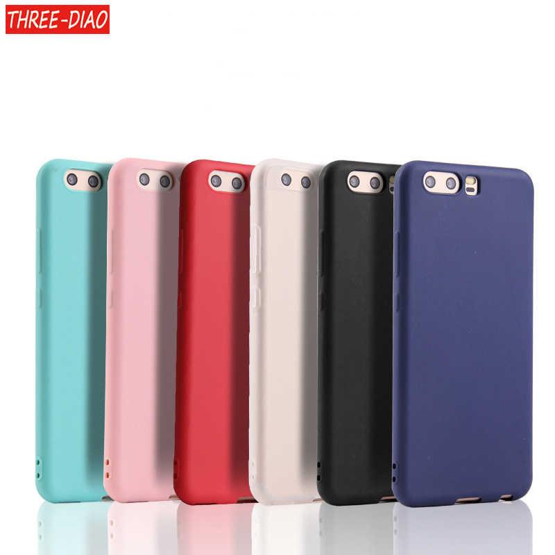 Matte Silicone Soft TPU Cover case for Huawei P8 lite 2017 P9 P10 P20 Lite Plus Nova Honor 6C 6A 6X Honor 8 Honor 9 Mate 10 lite