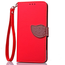 Luxury Magnetic Leaf PU Leather Wallet Flip Phone Protective Cover Case For Lenovo A2010 A5000 A