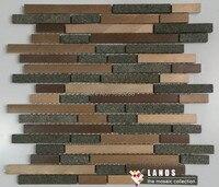 Granite Metail Mosaic Tiles Hot Sell Granite Tiles Metal Mosaic For Walls LSALB07