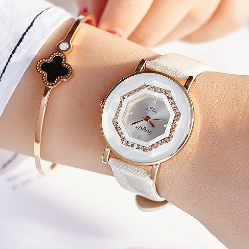 JW Top Brand Quartz Watch Women Luxury Crystal Fashion Wrist Watches Ladies Leather Casual Analog Watch Clock Relojes Para Mujer in Women 39 s Watches from Watches