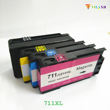 For HP 711 Ink Cartridges for HP711 XL Designjet T120 T520 Printer With Chip цена