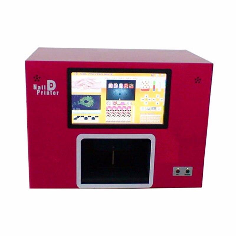 5 Impressora de unhas Digital Impressora Do Prego Máquina de Impressão De Unhas New Upgrated CE Aprovado Computador Construir Dentro do Vídeo Para Ensinar