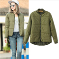 2016  Winter  Jacket Women Aviator Jacket Army Green Baseball Jackets Chaquetas Mujer Jaqueta Feminina Coat Women w-028