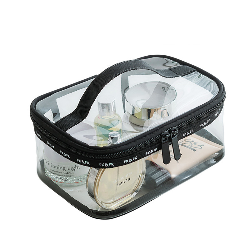 Clear Waterproof Cosmetic Toiletry Bag Travel Necessary PVC Vanity Makeup Wash Pouch Case Organizer Beauty Tools Storage Product solid color fashion cosmetic bag ladies portable travel necessary markup pouch storage beauty tools accessories supply products