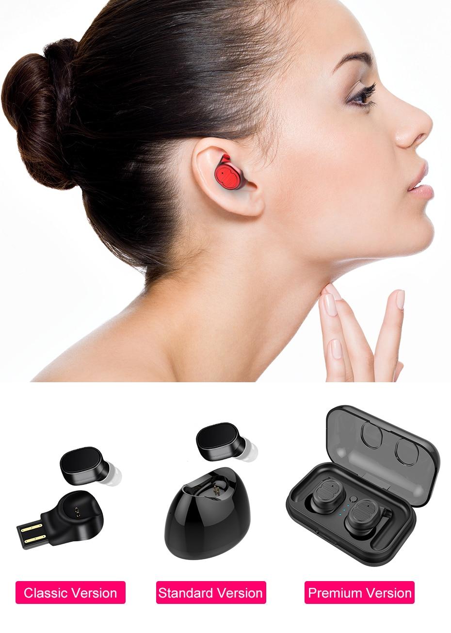 TWS8 Wireless Earphones Red | Cornmi