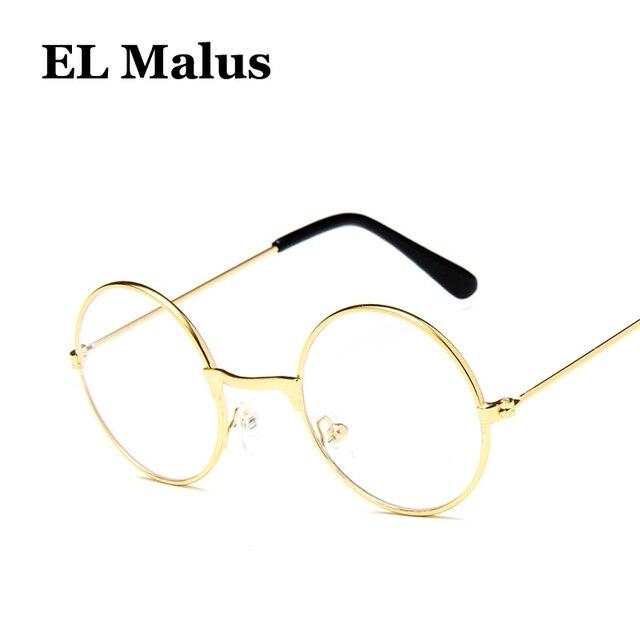 ce10c0bb77  EL Malus Retro Small Cute Round Metal Frame Sunglasses Gold Children Kids UV400  Lens