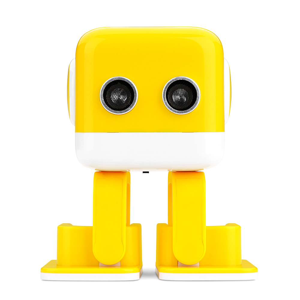High Quality WLtoys F9 Cubee APP Control Intelligent Dancing Gesture RC Robot RTR - Yellow/Blue Toy Robot Gift For Children цена и фото