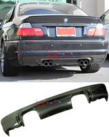 CSL STYLE FULL REAL CARBON FIBER DIFFUSER 4P EXHAUST FOR BMW 3 Series E46 M3 Bumper