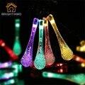 20 Gota De Água LEVOU Luzes de Natal Luzes de Fadas String Solares À Prova D' Água Movido A Energia Solar luzes Da Corda