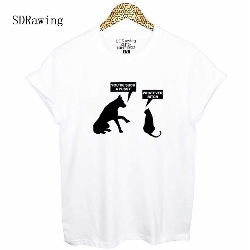 9227935a3 ... Funny Cat Dog print T shirt Kitten Puppy Tee Shirt You're Such A Pussy  ...